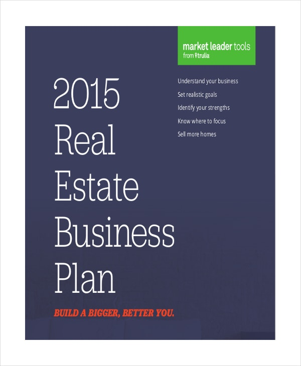 real estate agent business plan template