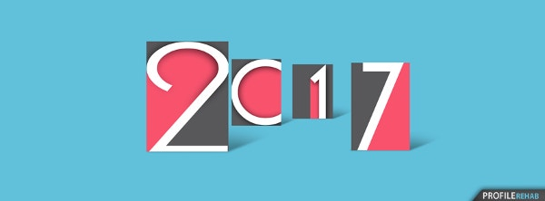 2017 Happy New Year Facebook Cover Design