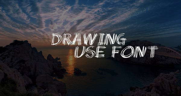drawing use font