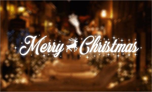 Merry Christma Banner Font