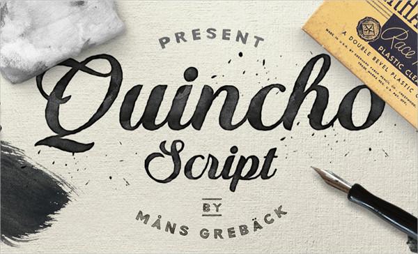 Quincho Script PERSONAL USE Font