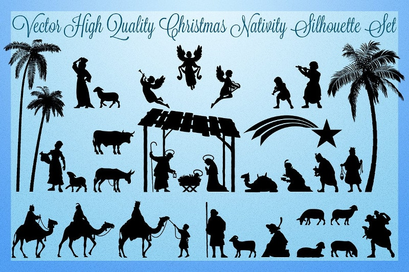 Vector Christmas Silhouette Greeting Card