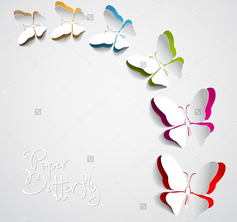 Paper Butterflies Greeting Card
