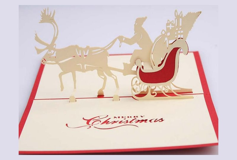 Creative Chinese Style 3D Christmas Card