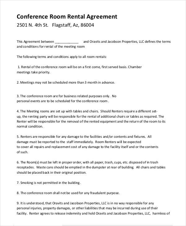 Room Rental Agreement - 9+ Free Word, Pdf Documents Download