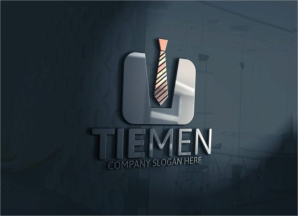 Tie Men Logo Template