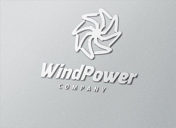 wind power logo template