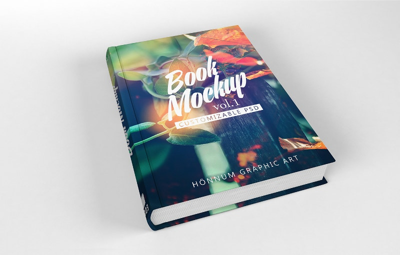graphic design book mockup
