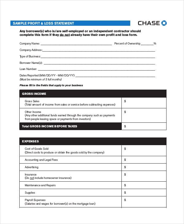 Profit & Loss Statement Template - 10+ Free PDF, Excel Documents ...
