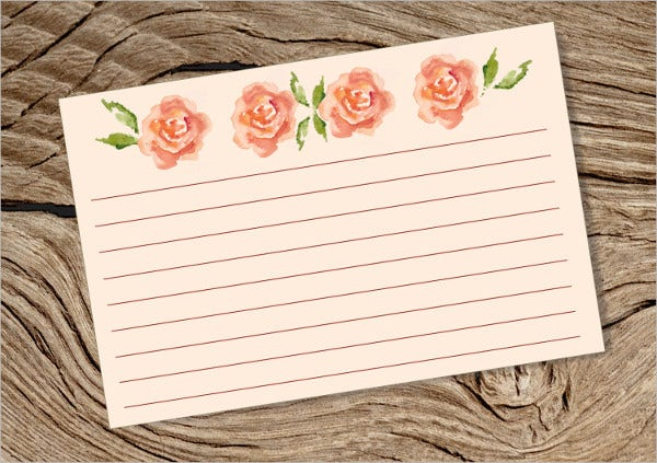 4 x 6 Blank Index Card
