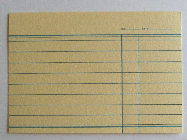 Letterpress Index Card