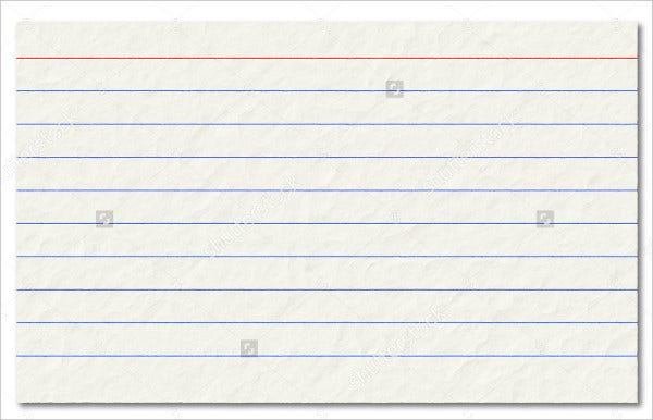 Printable Old Index Card