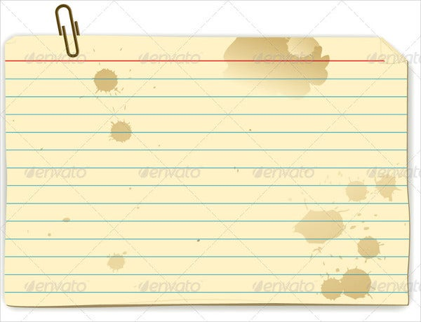 Printable Recipe Index Card
