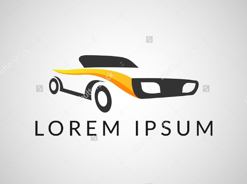 stylish car logo design