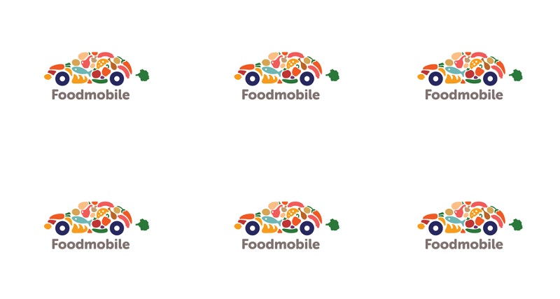 creative food car logo design