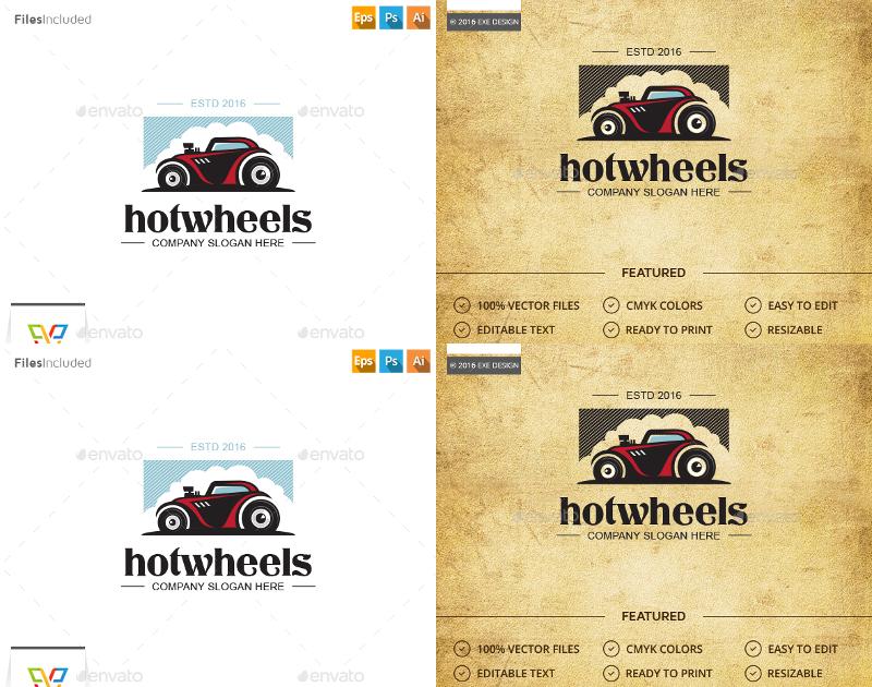 classic car logo desing