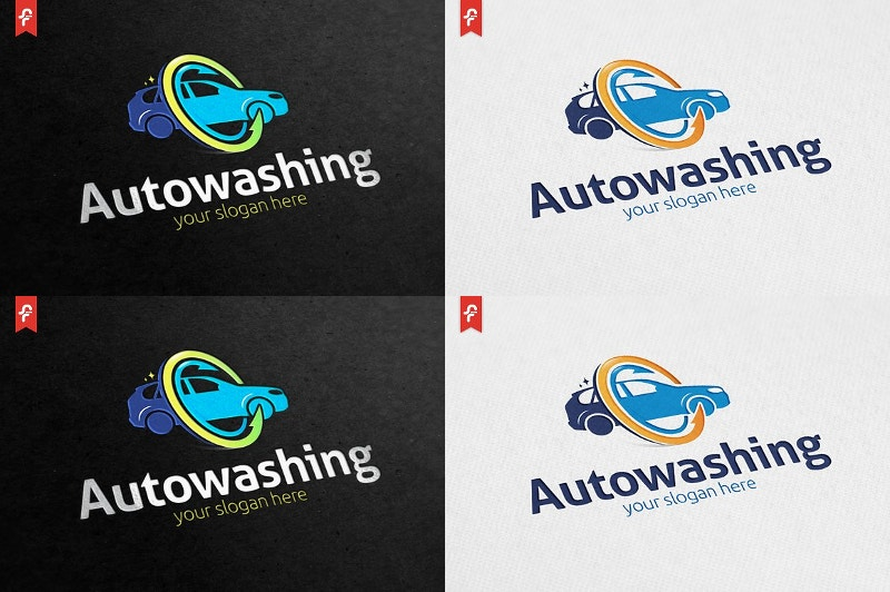 car washing service logo design