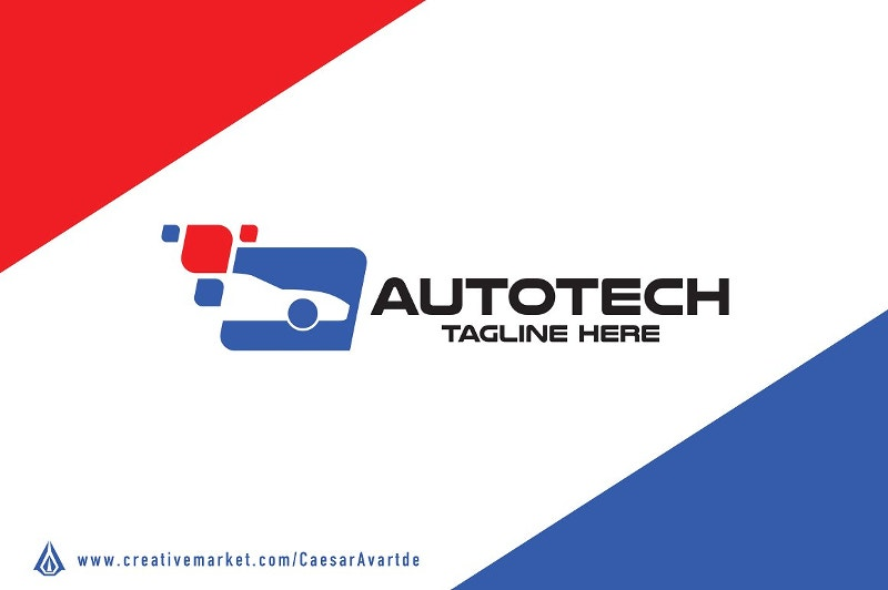 car tech logo design