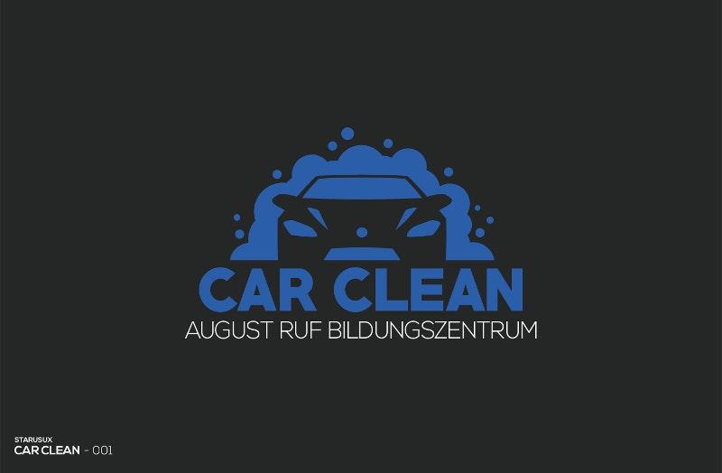 car cleaning logo design