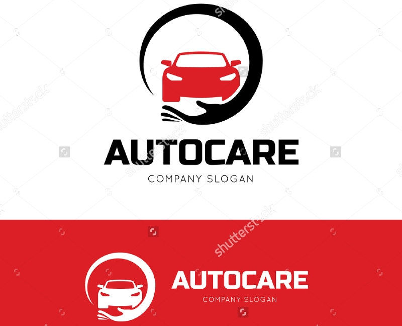 auto care car logo design