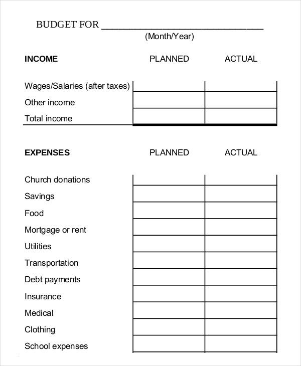 Monthly Budget Planner Template   Free Excel Pdf Documents