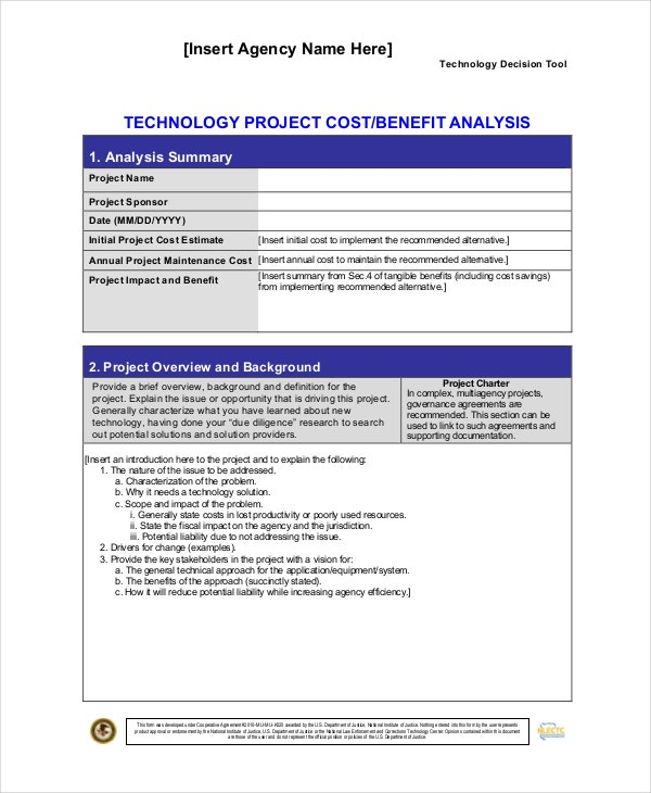 technology-project-cost-benefit-analysis-template