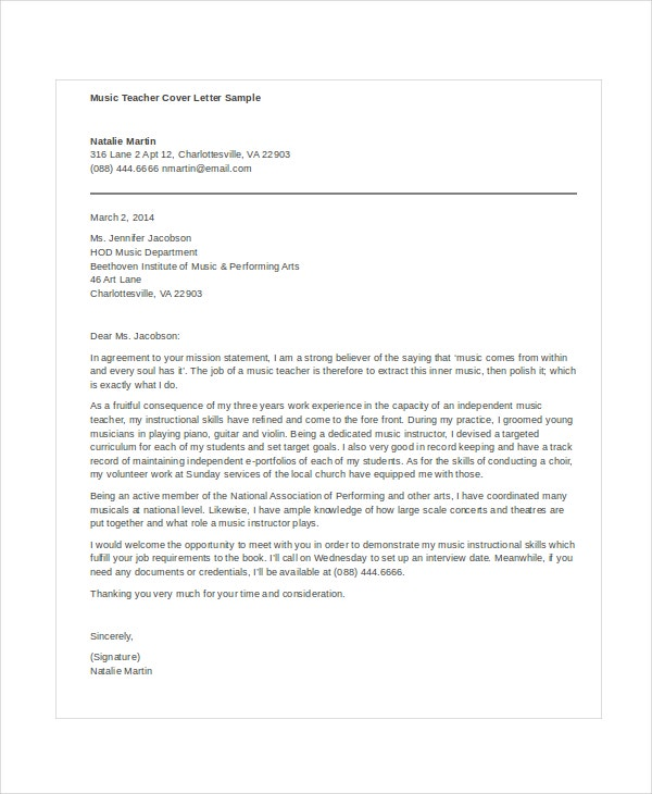 Teacher Cover Letter Example from images.template.net