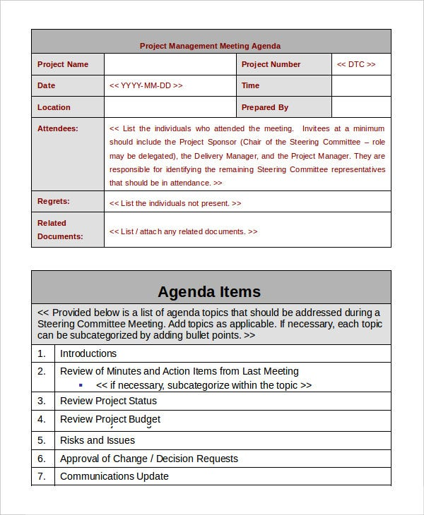 Project Management Template   Free Word Pdf Documents