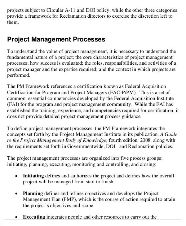 project management template 10 free word pdf documents