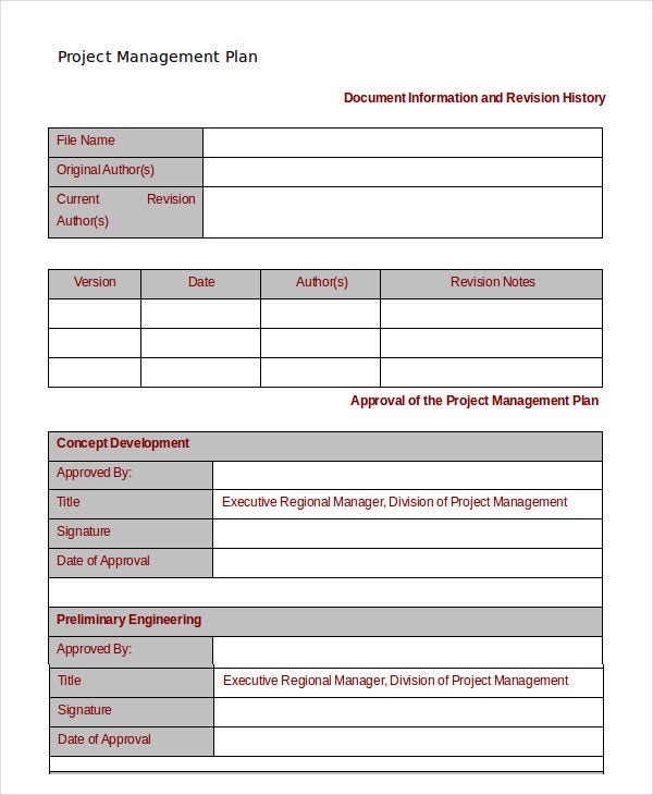 16 Simple Project Management Templates Word Pdf Docs Free