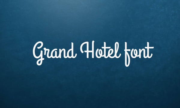 Business Hotel Font