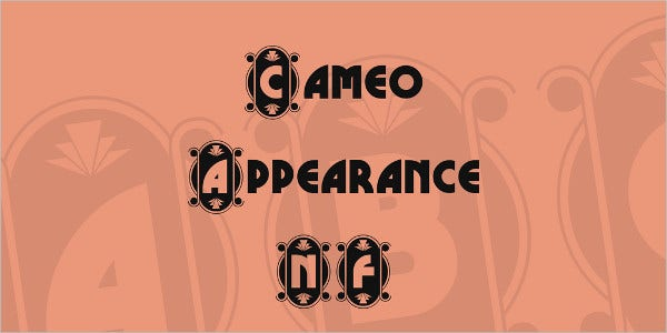 cameo appearance nf font