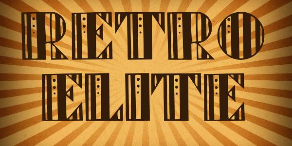retro style elite font