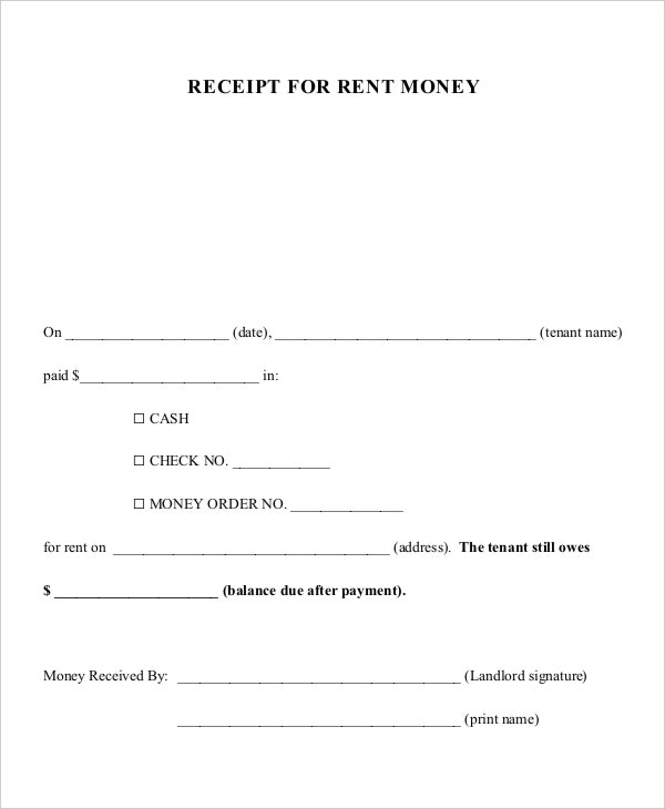 money receipt pdf template
