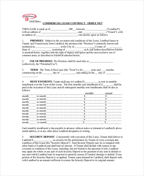 Commercial Lease Agreement 10 Free PDF Word Documents Download – Commercial Lease Termination Agreement