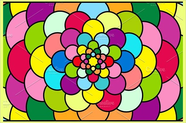 color stained glass pattern