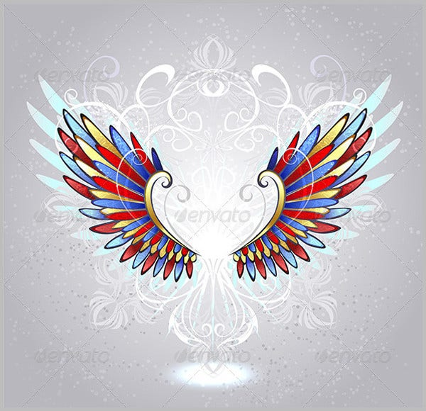 Stained Glass Wings Pattern