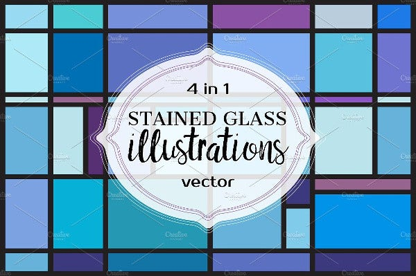 vector stained glass pattern
