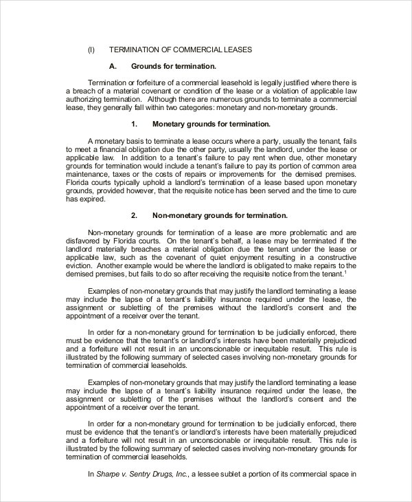 Commercial Lease Agreement 10 Free PDF Word Documents Download – Commercial Lease Agreement Template Free