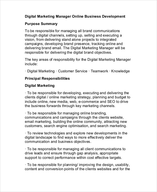free-digital-marketing-manager-job-description