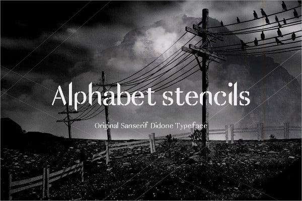 Alphabet Stencil Font