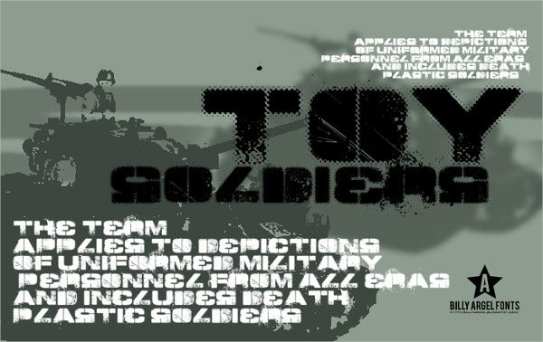 Army Toy Soldiers Font