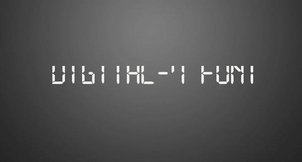 Digital Segment Font