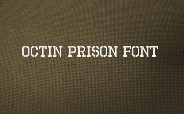 octin prison free font
