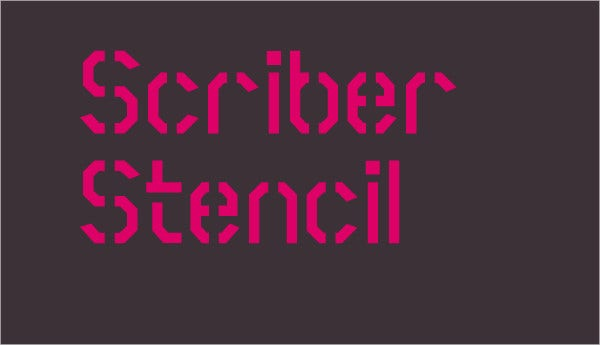 Scriber Bold Stencil fONT