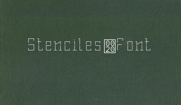 Stenciles Font