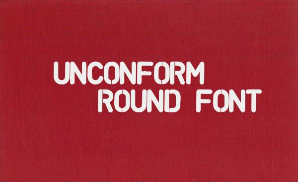 unconform round font