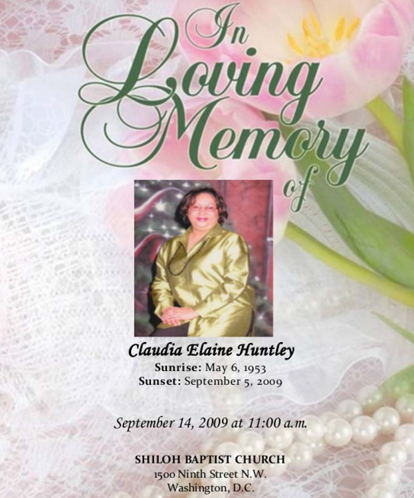 Free Funeral Memorial Program Template  Memorial Pamphlet Template Free