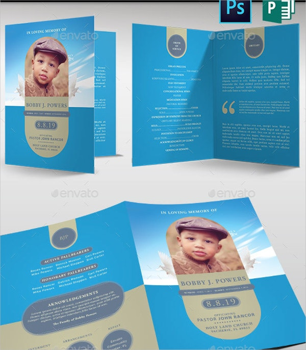 17 Funeral Program Templates – Child Funeral Program Template