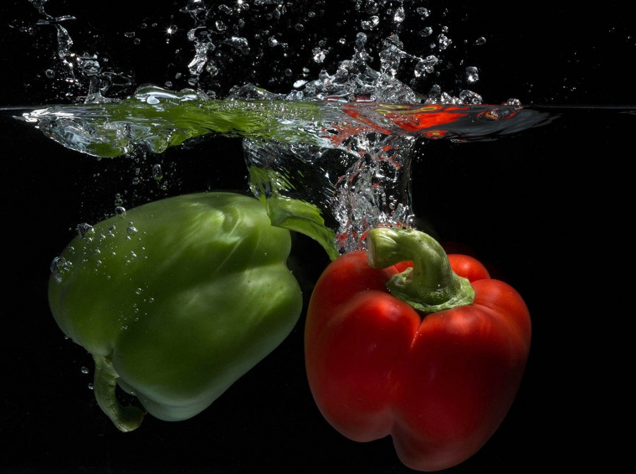 Pepper Splash High Speed Photography